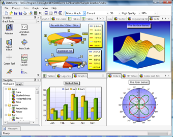 Screenshot of DataScene, a technical graphing program